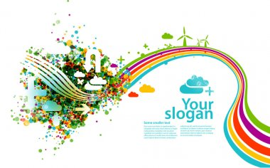 Ecology concept - horizontal vector background