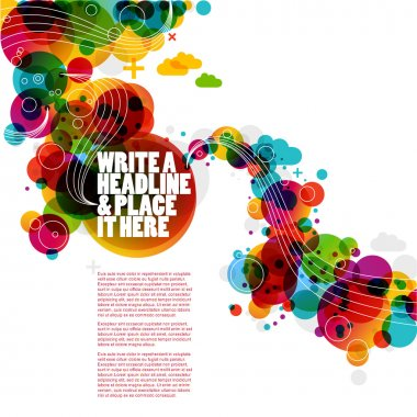 Funky graphic design - abstract background