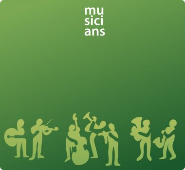 Abstract musicians background