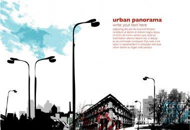 Urban vertical background clip art vector