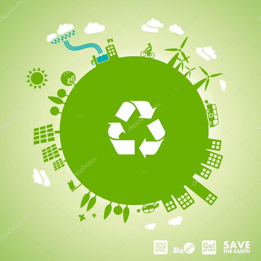 Bevorzugt verte - concept de développement durable — Image vectorielle #11227376 SC15