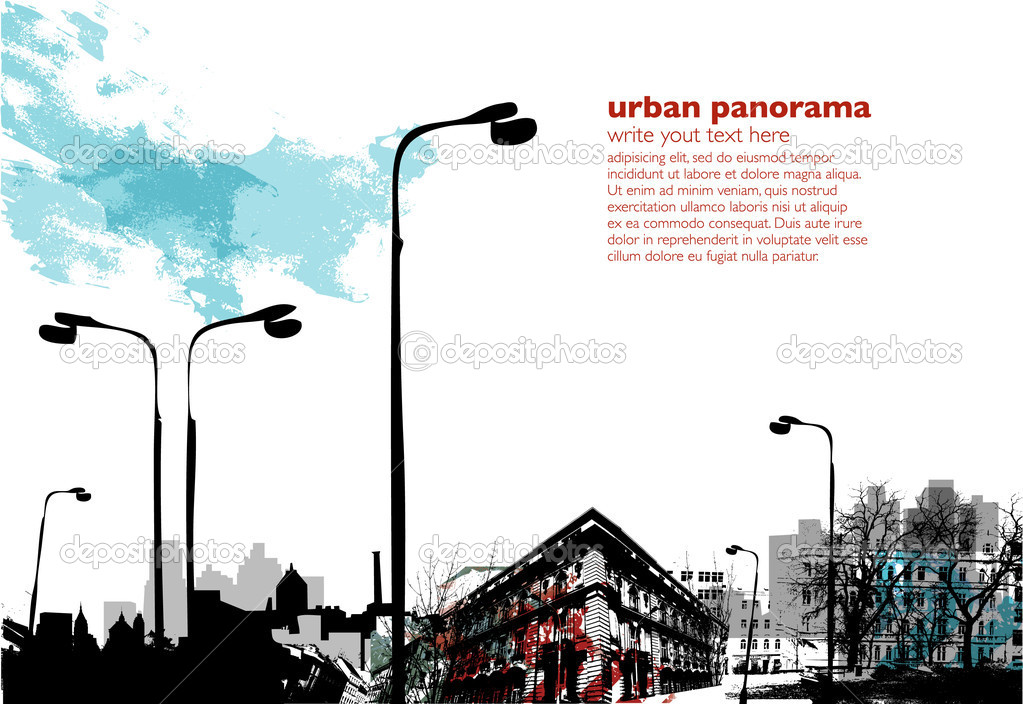 Urban vertical background