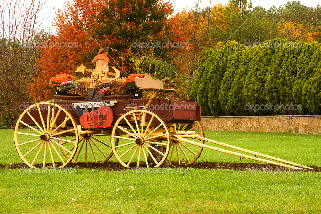 Decorated Wagon For Fall Season Stock Photo C Trudywilkerson 11488394