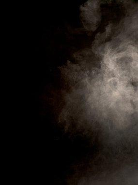 View of fog over dark background