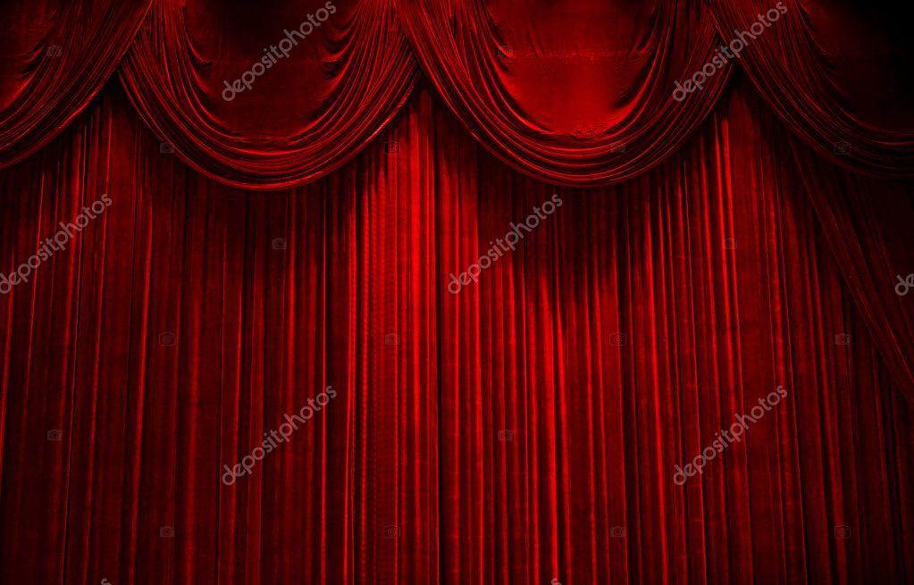 Rideaux De Velours Rouge Scène Théâtre Photographie Gotvideo