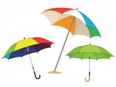Set of umbrellas vector illustration
