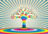 Barevný strom vektorová design