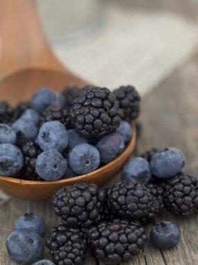 Blueberries and blackberries