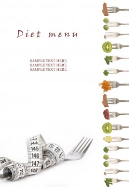 Diet menu with the place for your text