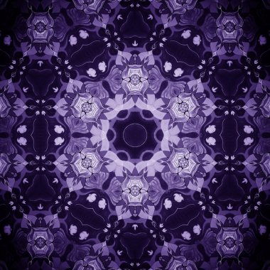 Mandala Purple Flower