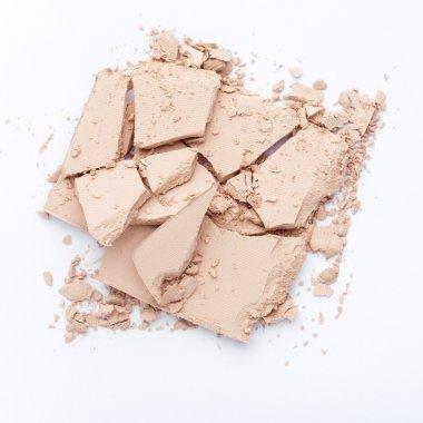 Close up of crushed facial powder