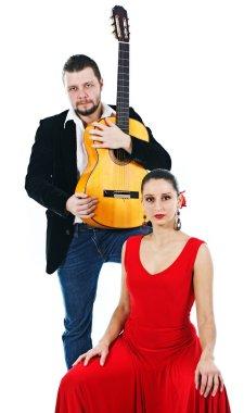 Flamenco dancer and guitarist