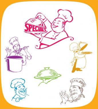 Cartoon illustration of a chef