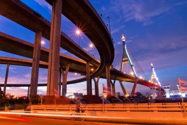 Bhumibol Bridge, The Industrial Ring Road Bridge in Bangkok. Lon