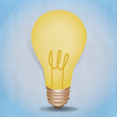 Bulb light illustration with paper texture