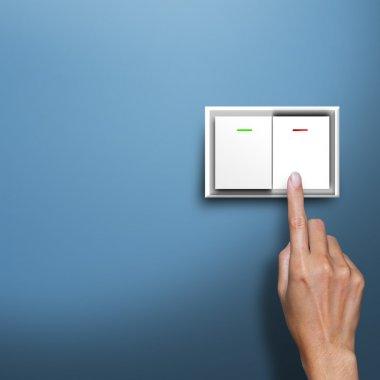 Hand pressing switch