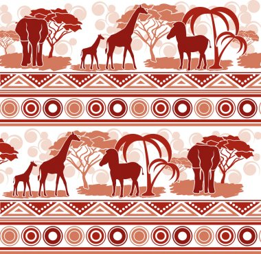 Pattern in the African style