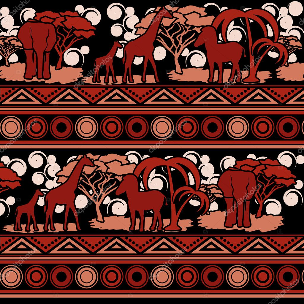 Pattern in the African style in color