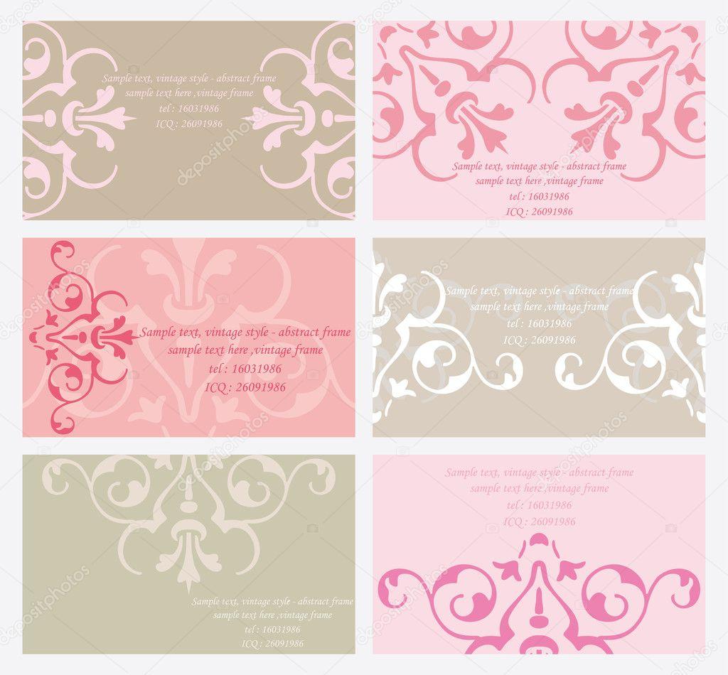 Vector floral business card set — Stock Vector © Eucharis #11246865