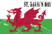 Photo Wales flag. St Davids Day