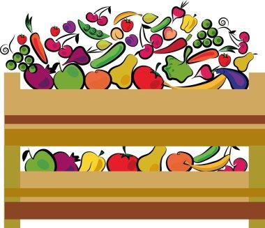 Organic food label in green colors