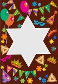 Fotografia sfondo di Purim con stella davis