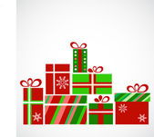 Hromady dárků na Vánoce
