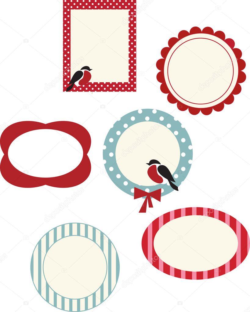 conjunto de marcos para tarjetas de Navidad — Archivo Imágenes ...