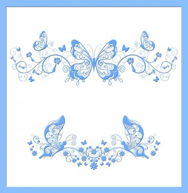 Butterfly blue abstract background