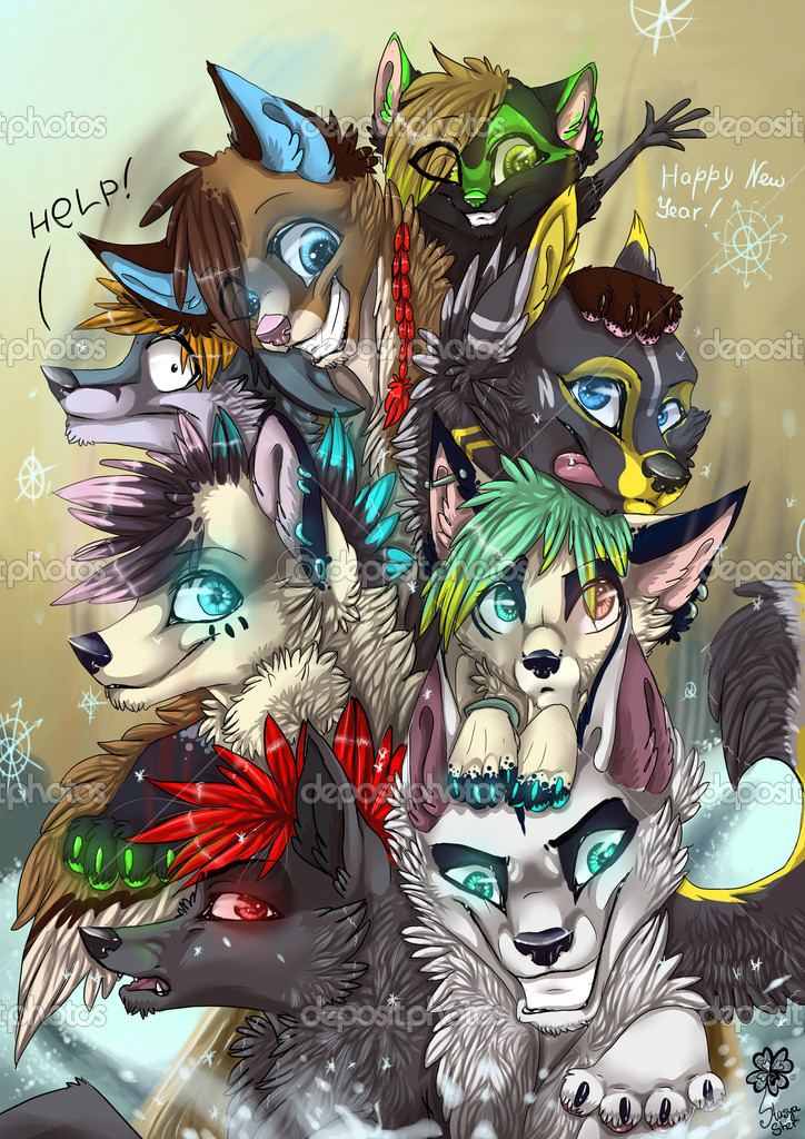 Pictures Cartoon Wolves Funny Cartoon Wolves Stock Photo C Sarmadon 11234976