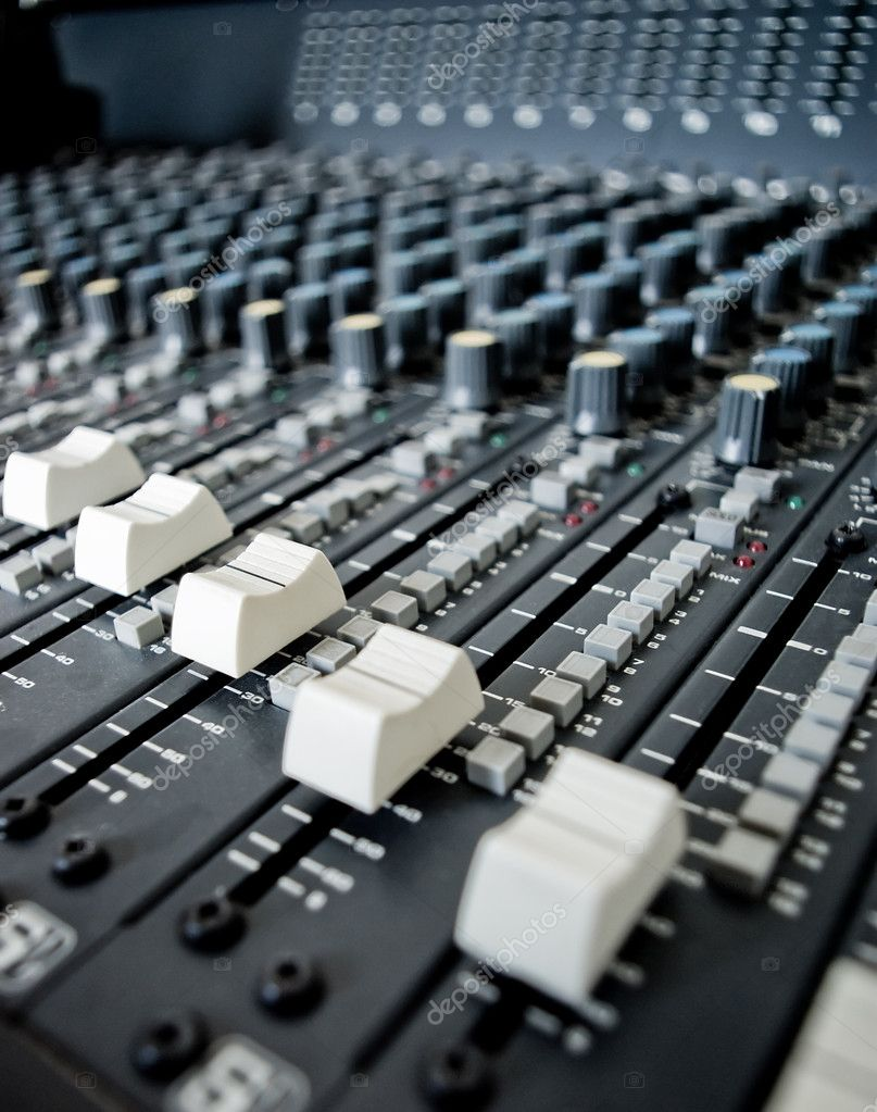Audio Engineer Mixing Board — Stock Photo © filmstroemstock #11771036