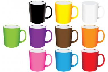 Set of mugs vector