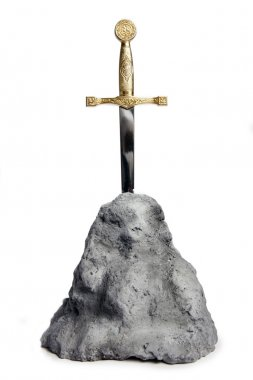 The Sword in the Stone on white