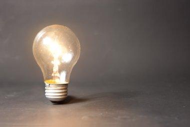 Concept of bright idea with light bulb