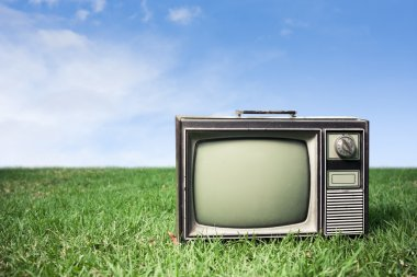 Retro Tv on grass