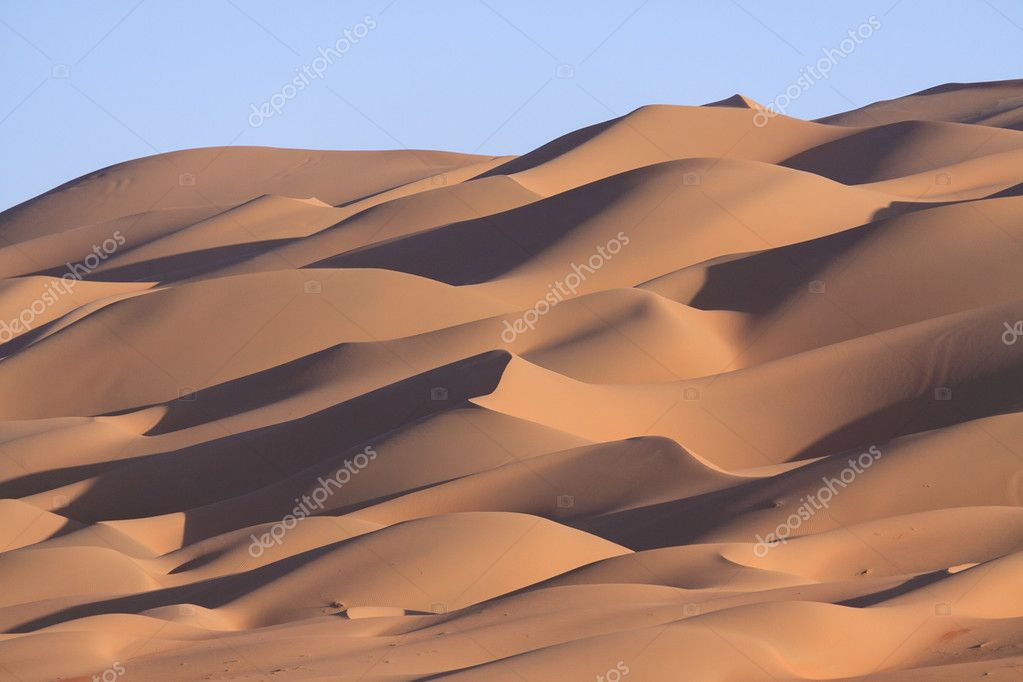 Lines of sand dunes
