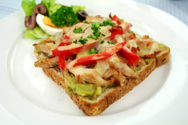 Grilled Open Chicken Sandwich