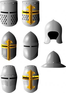 Medieval helmet stock vector