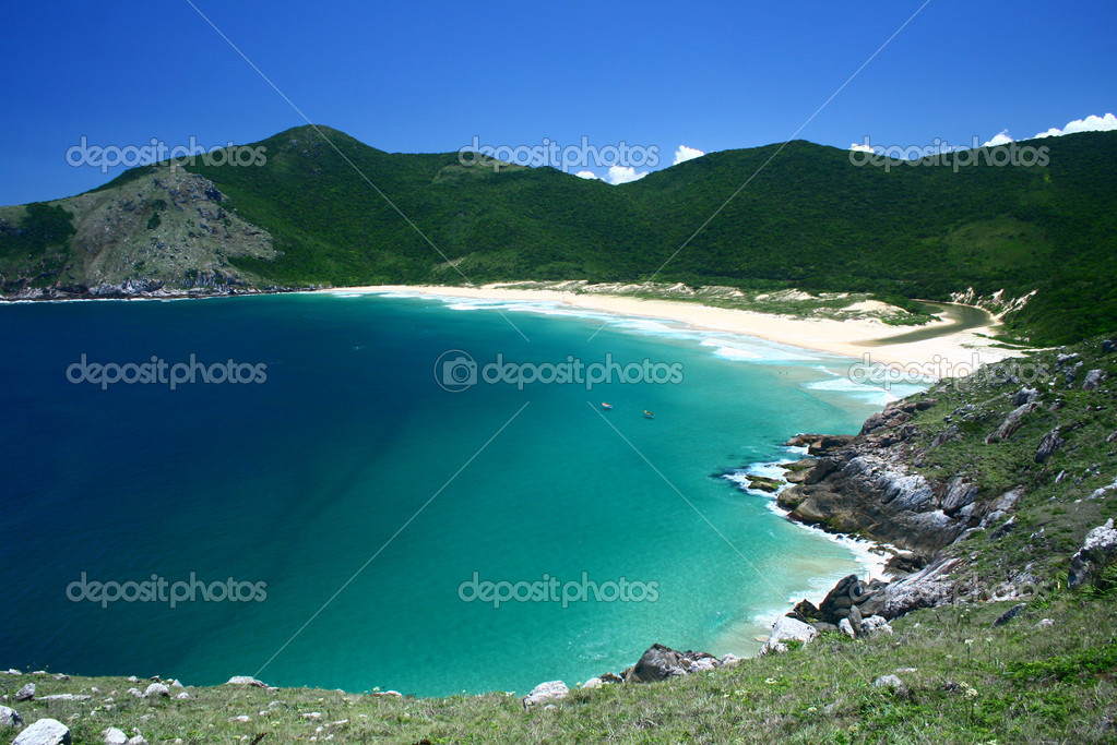Beautiful beach paradise Florianópolis in Southern Brazil