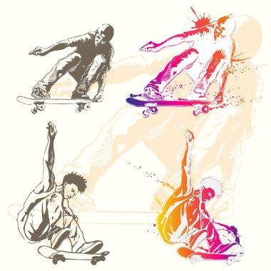 Skater on action