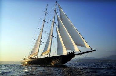 Luxury big sailboat