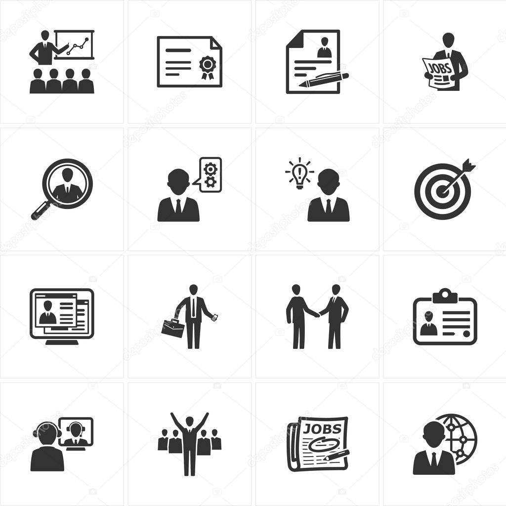 Employment and Business Icons