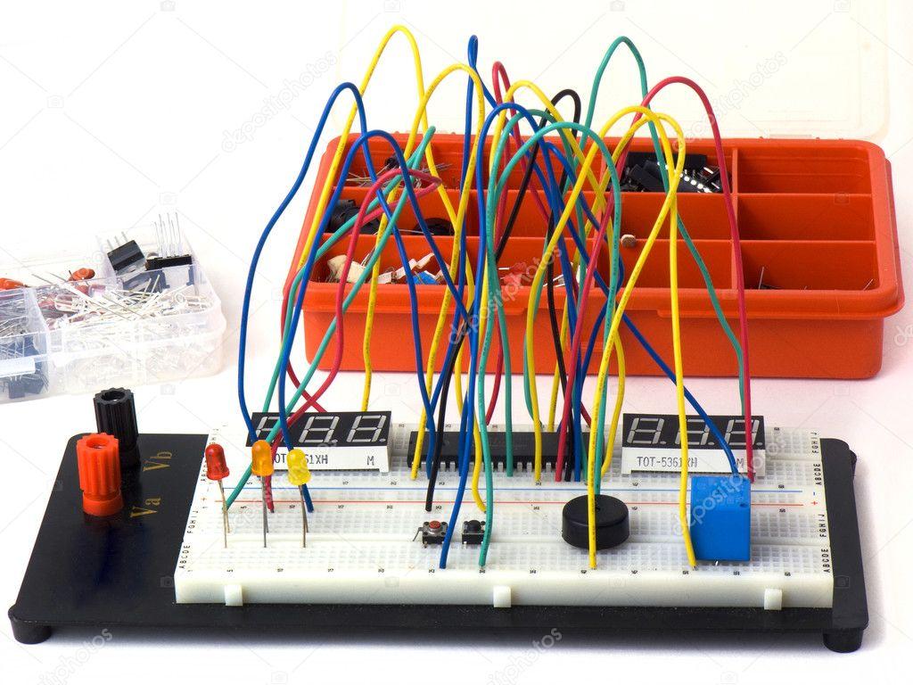 Diy Elektronische Schaltungen Stockfoto Madarakis 11418216 Electronic Circuit