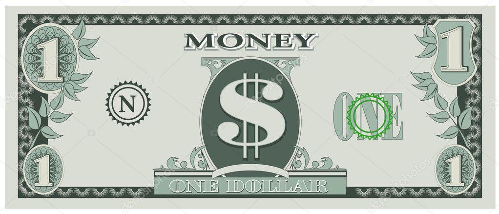 Game Money One Dollar Bill Stock Vector 169 Groupera