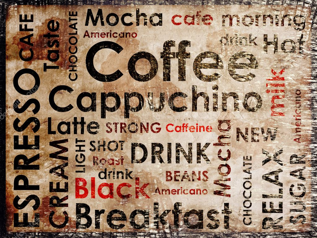 Sorts of coffe background