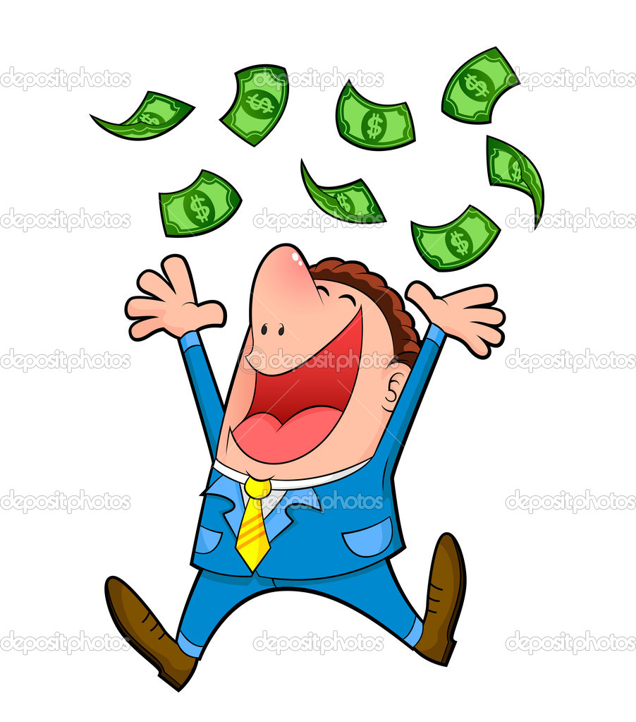 Rain of money — Stock Vector © ayeletkeshet #11418970