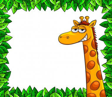 Giraffe in the woods