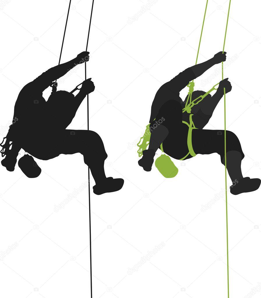 rock climber hanging silhouette stock vector sirotaga sell