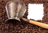Fotografie kávové konvice na fazole