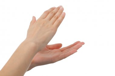 Woman hands clapping